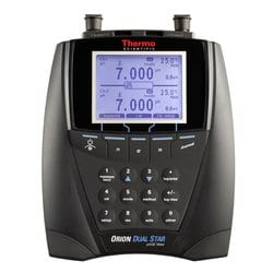 Medidor de pH, ISE, mV, ORP y temperatura de sobremesa Orion™ Dual Star™ con canal doble