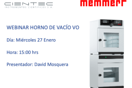 Webinar Memmert Horno de Vacío VO